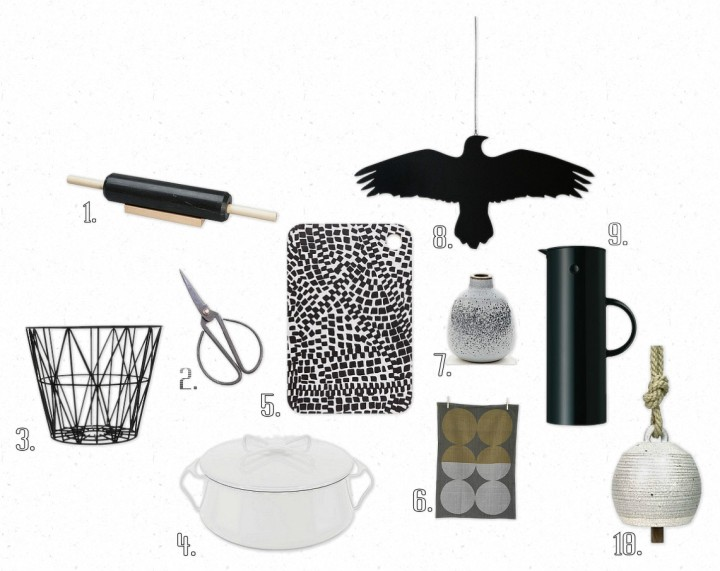 OB-Black & White Christmas Gift List